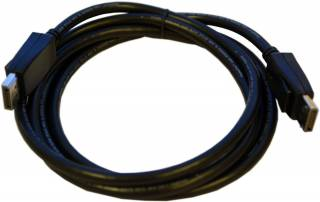 Display Port cable Amphenol 6.6 ft black *NEW*