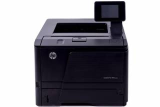 HP LaserJet Pro M401DN example - click to zoom